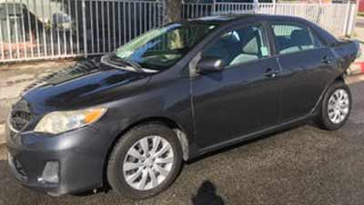2012 Toyota Corolla LE Sold to JunkCarMedics.com for $1400