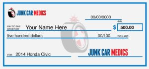 $500 Check to Sell a Junk Car