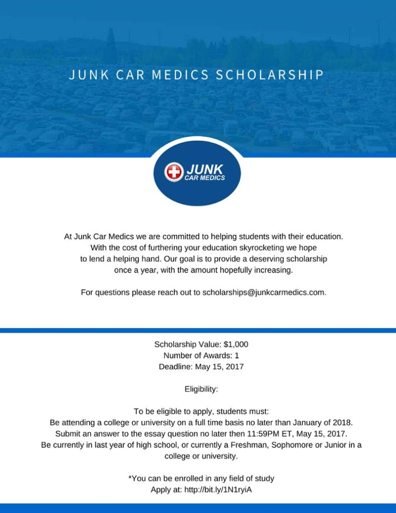 Junk-Car-Medics-Scholarship