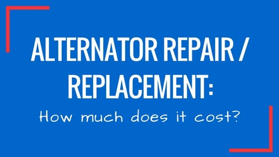 How Much Does It Cost To Replace An Alternator >> Alternator Repair How Much Does It Cost Junk Car Medics