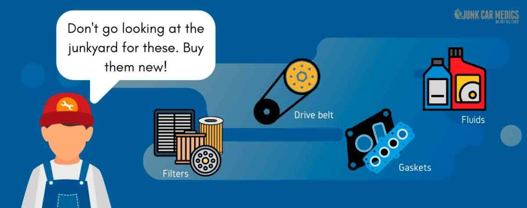 These are the car parts you should buy brand new.