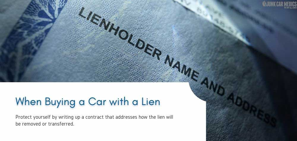 You should take steps to protect yourself when buying a car with a lien.