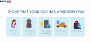 These are the signs and symptoms that your car windows are leaking.