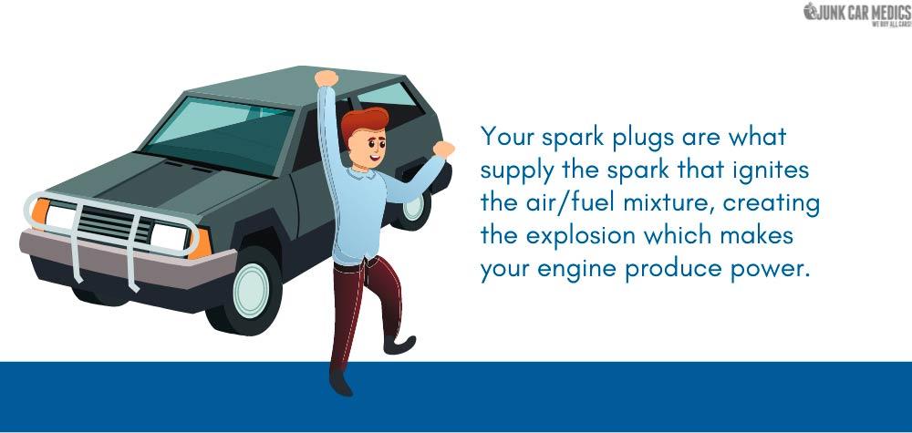 Spark plugs help ignite the engine.